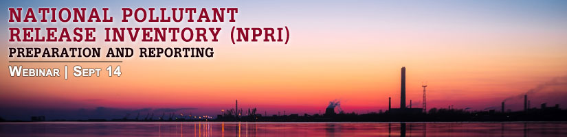 National Pollutant Release Inventory (NPRI)