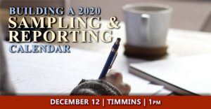 Building your 2020 Sampling and Reporting Calendar