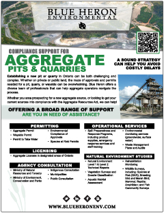 Compliance Support for Aggregate Pits and Quarries