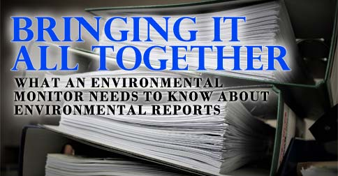 Bringing it All Together - What an Environmental Monitor Needs to know about Environmental Reports