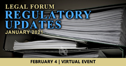 Legal Forum-Regulatory Updates 2021
