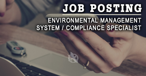 Job opportunity for Environmental Management System / Compliance Specialist in Northern Ontario